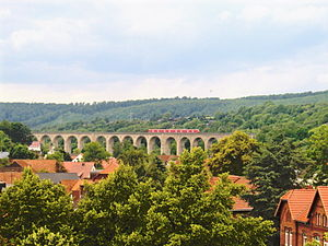 Altenbeken Viaduct - The viaduct spans the Beke valley.