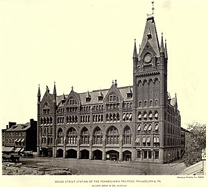 Broad Street Station (Philadelphia) - The original Broad Street Station (1881).