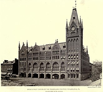 Broad Street Station (Philadelphia) - The original Broad Street Station (September 26, 1885).
