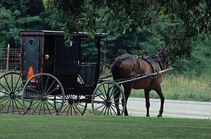 Jamesport, Missouri - Amish horse and buggy in Jamesport
