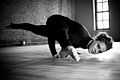 An Eka Pada Koundinyasana yoga posture asana.jpg