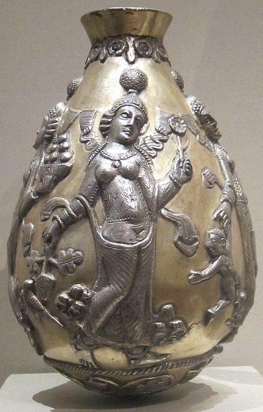 Anahita vessel, 300-500 CE, Sasanian, Cleveland Museum of Art