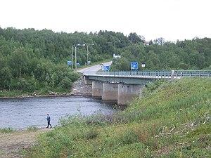 Anarjohka - Anárjohka and the bridge to Karigasniemi in Finland