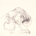 Anatomical study of figure leaning forward by Christopher Willard.png