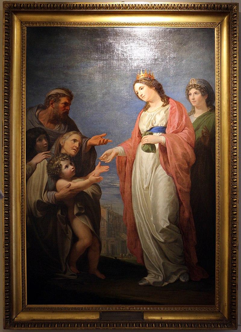 Андреа Аппиани, La regina elisabetta d'ungheria soccorre i bisognosi, 1795.jpg
