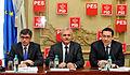 Andrei Dolineaschi, Liviu Dragnea, Victor Ponta, reuniunea BPN a PSD - 06.01.2014 (11797329773).jpg