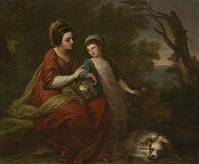 Mrs. Hugh Morgan and Her Daughter