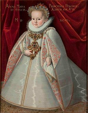 Martin Kober - Portrait of Crown Princess Anna Maria Vasa, 1596