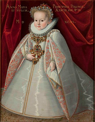 Martin Kober - Portrait of Crown Princess Anna Maria Vasa, 1596