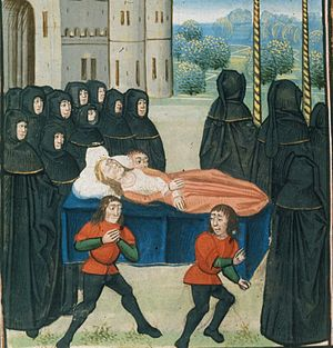 Christian burial - Funeral procession of Anne of Bohemia, Queen consort of England, 1394