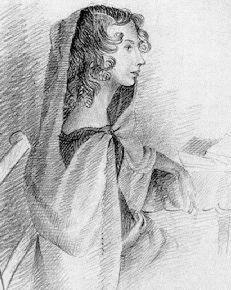 Anne Brontë - A sketch of Anne by sister Charlotte, circa 1834
