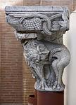 Anonyme toulousain - Chapiteau de colonne appliquée , Lions mordant des lianes - Musée des Augustins - ME 242 (1).jpg