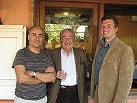 Antón Riveiro Coello, Álvaro Mutis e Alberto Piñeiro..jpg