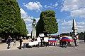 Anti-Maduro (Venezuela) protest, Statue of Simon Bolivar, Paris 29 April 2017.jpg