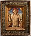 Antonio vivarini, gesù che sporge dal sepolcro, 1450 ca., da s. caterina del corpus domini.jpg