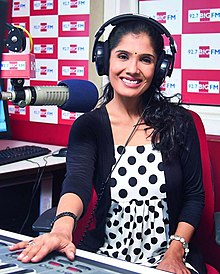Anuradha giving a special talk in Big FM in 2014