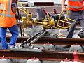 Anzin & Valenciennes - Travaux de raccordement des lignes A & B du tramway de Valenciennes à la Croix d'Anzin le 19 août 2013 (24).JPG