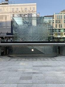 Ingresso del negozio Apple Piazza Liberty a Milano