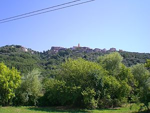 Aquara - View of Aquara from the valley