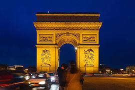 Arc de Triomphe, place Charles-De-Gaulle à Paris, 2013.jpg
