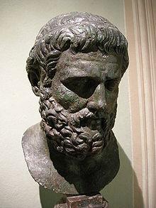 Buste en bronze de Sophocle