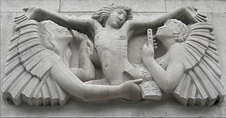 Broadcasting House - Ariel between Wisdom and Gaiety by Eric Gill