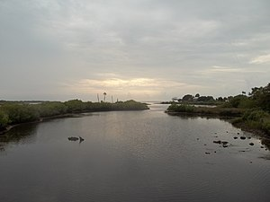 Aripeka, Florida - South Hammock Creek, looking west from the bridge