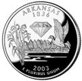 Arkansas quarter, reverse side, 2003.jpg