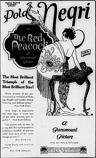 <i>The Red Peacock</i> 1920 film