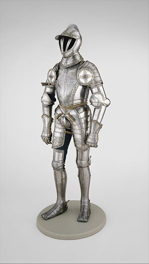 Codpiece - Armor of Ferdinand I, Holy Roman Emperor with codpiece, 1549, at the Metropolitan Museum of Art.