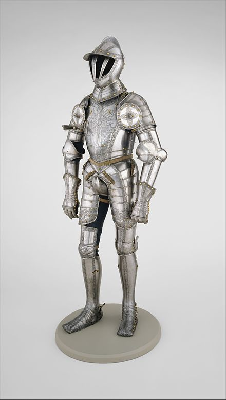 Armor of Ferdinand I, Holy Roman Emperor , created when he was still King of the Romans in 1549. Armor of Emperor Ferdinand I (1503-1564) MET DT773.jpg