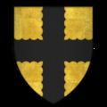 Arms of Sir John de Mohun, 2nd Baron Mohun, KG.png