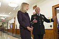 Army Gen. Martin E. Dempsey, right, chairman of the Joint Chiefs of Staff, speaks with Martha Raddatz, ABC News senior foreign affairs correspondent, during a recorded interview at the Pentagon 141007-D-KC128-044.jpg