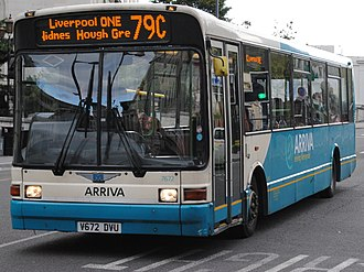 Marshall Capital - Arriva North West Marshall Capital C39 bodied Dennis Dart in Liverpool in May 2013