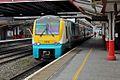 Arriva Trains Wales Class 175, 175104, platform 6, Crewe railway station (geograph 4524871).jpg