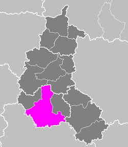 Location of Troyes in Champagne-Ardenne