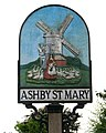 Ashby St Mary - village sign (close-up) - geograph.org.uk - 1464859.jpg