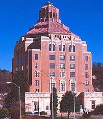 Ayuntamiento de Asheville, ejemplo de arquitectura art decó