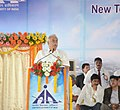 Ashok Gajapathi Raju Pusapati addressing at the foundation stone laying ceremony for New Terminal building at Vijayawada airport, in Gannavaram, Krishna district of Andhra Pradesh on October 19, 2015.jpg