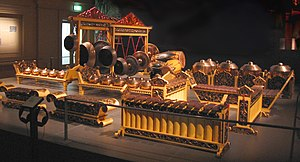 Gamelan - A Javanese gamelan set from the Asian Civilisations Museum, Empress Place, Singapore.