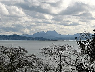 Saddle Mountain State Natural Area - Image: Astoria and Saddle Mountain from Chinook Point