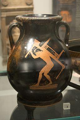 Athenian red-figure pelike, found in Gela, 5th c BC, slave boy, AshmoleanM, AN 1972.268, 142536
