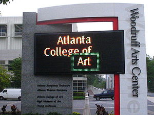 Atlanta College of Art -  Atlanta College of Art Sign at the Woodruff Arts Center