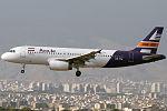 Atrak Air Airbus A320 on finals into Mehrabad.jpg