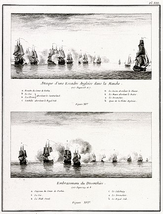 Action of 2 May 1707 - Action of 2 May 1707. National Maritime Museum