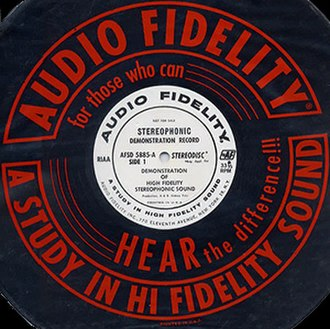 Stereophonic sound - Label and sleeve from Audio Fidelity Records' second stereo demonstration record, ca. 1958.