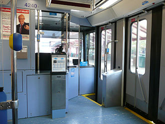 Siemens SD-400 and SD-460 - Image: August 2009 Pittsburgh LRT Interior