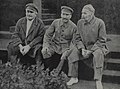 Avel Enukidze Joseph Stalin and Maxim Gorky Red Square 1931.jpg