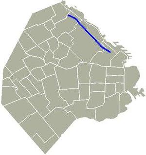 Avenida Figueroa Alcorta - Location of Avenida Figueroa Alcorta in Buenos Aires.