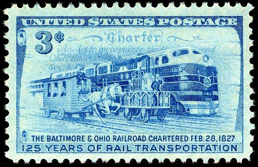 B&O RailRoad 3c 1952 issue